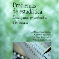 Libros de segunda mano de Ciencias: PROBLEMAS DE ESTADISTICA - CASAS SÁNCHEZ - PIRAMIDE. Lote 191225313