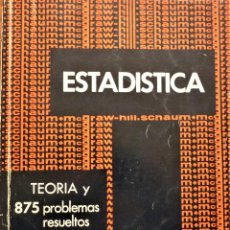 Libros de segunda mano de Ciencias: ESTADÍSTICA - MCGRAW-HILL - MURRAY R. SPIEGEL - SERIE SCHAUM. Lote 191298600