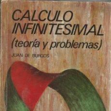 Libros de segunda mano de Ciencias: CALCULO INFINITESIMAL ( TEORÍA Y PROBLEMAS ) - JUAN DE BURGOS. Lote 191987908