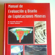 Libros de segunda mano: MANUAL DE EVALUACION Y DISEÑO DE EXPLOTACIONES MINERAS - M. BUSTILLO REVUELTA Y C. LOPEZ JIMENO. Lote 192311266