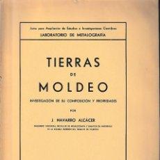 Libros de segunda mano: TIERRAS DE MOLDEO (NAVARRO ALCÁCER 1937) SIN USAR. Lote 192964582