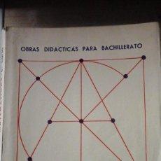Livres d'occasion: REY PASTOR/ PUIG ADAM: MATEMÁTICAS, SEXTO CURSO DE BACHILLERATO (6ª BACHILLERATO) (MADRID, 1954). Lote 194122751