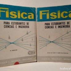 Libros de segunda mano de Ciencias: FÍSICA PARA ESTUDIANTES DE CIENCIAS E INGENIERÍA. VOLS. I-II: COMPLETO. NUEVA EDICIÓN MEJORADA. Lote 194153552