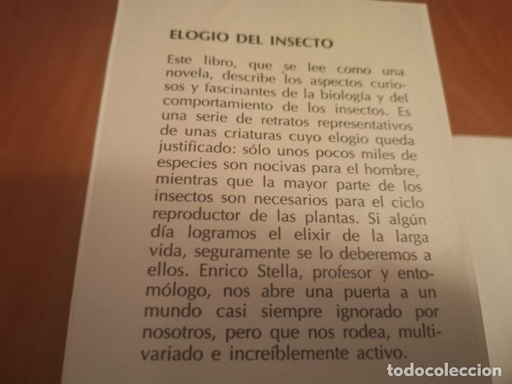 Libros de segunda mano: MAGNÍFICO LIBRO ELOGIO DEL INSECTO POR ENRICO STELLA ARIEL CIENCIA 1993 - Foto 2 - 194246817