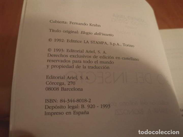 Libros de segunda mano: MAGNÍFICO LIBRO ELOGIO DEL INSECTO POR ENRICO STELLA ARIEL CIENCIA 1993 - Foto 4 - 194246817