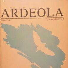 Libros de segunda mano: ARDEOLA. VOLUMEN 57 (2). DICIEMBRE 2010. SOCIEDAD ESPAÑOLA DE ORNITOLOGÍA.. Lote 194335006