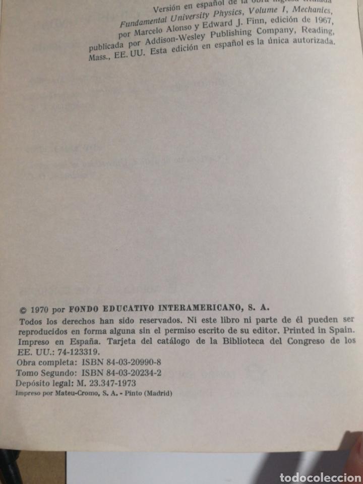 Libros de segunda mano de Ciencias: Fisica vol.II campos y ondas Alonso finn - Foto 4 - 194338248