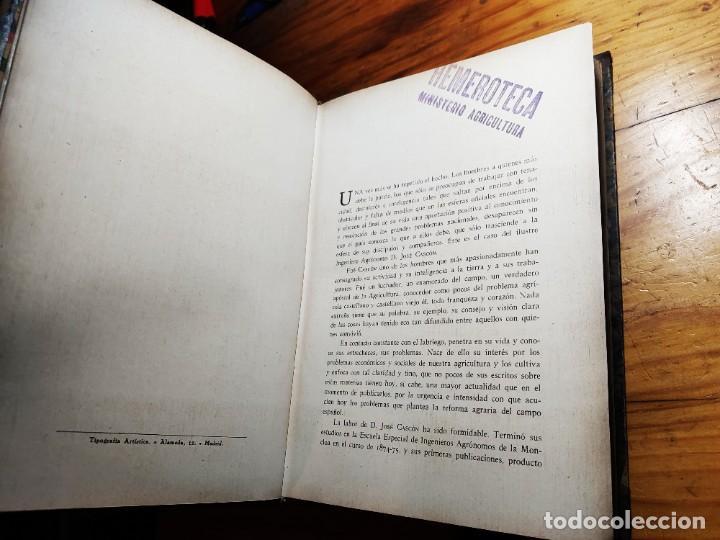 Libros de segunda mano: AGRICULTURA ESPAÑOLA. ANTOLOGÍA DE ARTÍCULOS, MONOGRAFÍAS Y CONFERENCIAS. CASCÓN Y MARTÍNEZ, J. 1934 - Foto 3 - 194339663