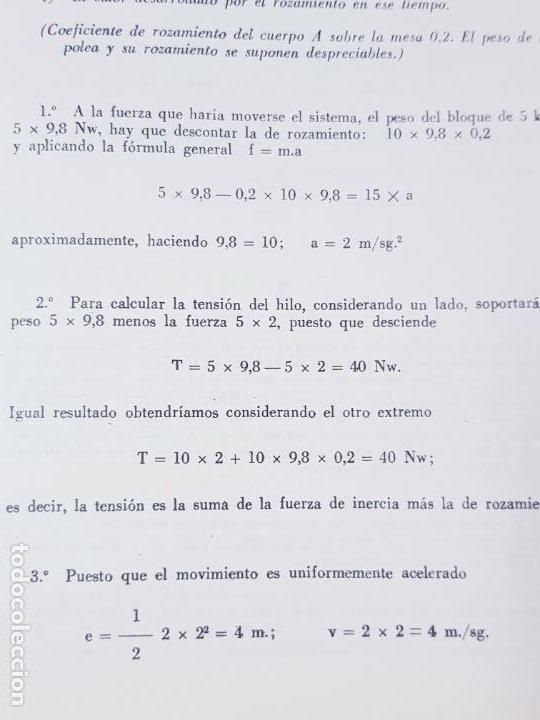 Libros de segunda mano de Ciencias: LIBRO-PROBLEMAS DE FÍSICA-1968-CARLOS LÓPEZ BUSTOS-PREUNIVERSITARIO-ENUNCIADOS Y SOLUCIONES-VER FOTO - Foto 12 - 194347977