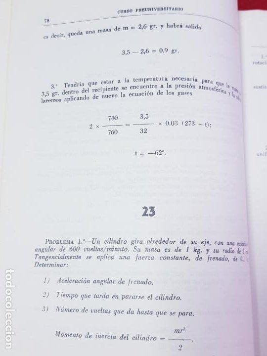 Libros de segunda mano de Ciencias: LIBRO-PROBLEMAS DE FÍSICA-1968-CARLOS LÓPEZ BUSTOS-PREUNIVERSITARIO-ENUNCIADOS Y SOLUCIONES-VER FOTO - Foto 14 - 194347977