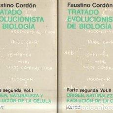 Libros de segunda mano: TRATADO EVOLUCIONISTA DE BIOLOGIA. PARTE SEGUNDA, VOL. I Y II. CORDON, FAUSTINO. A-CIE-367. Lote 194373750
