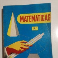 Libros de segunda mano de Ciencias: MATEMÁTICAS 5° CONSTANTINO MARCOS JACINTO MARTÍNEZ. Lote 194381965
