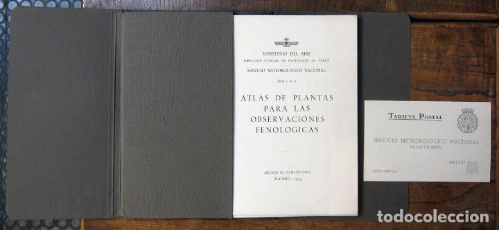 Libros de segunda mano: MINISTERIO DEL AIRE - ATLAS DE PLANTAS PARA LAS OBSERVACIONES FENOLÓGICAS - 1943 - METEOROLOGÍA - Foto 2 - 194509545