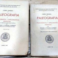 Libros de segunda mano: CURSO GENERAL DE PALEOGRAFÍA Y DIPLOMÁTICA ESPAÑOLAS, ANTONIO FLORIANO. TEXTO SELECCIÓN DIPLOMATICA. Lote 194511023