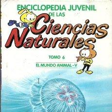 Libros de segunda mano: ENCICLOPEDIA JUVENIL DE LAS CIENCIAS NATURALES TOMO 6 EL MUNDO ANIMAL V. Lote 194533990