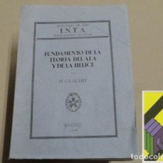 Libros de segunda mano de Ciencias: GLAUERT, H.: FUNDAMENTO DE LA TEORÍA DEL ALA Y DE LA HÉLICE (TRAD:A.PÉREZ MARÍN). Lote 194669036