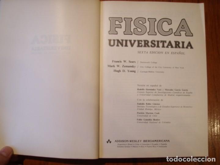 Libros de segunda mano de Ciencias: LIBRO FÍSICA UNIVERSITARIA - Foto 2 - 194714008