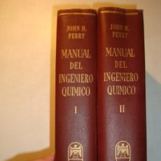 Libros de segunda mano de Ciencias: MANUAL DEL INGENIERO QUÍMICO TOMOS I Y II COMPLETO - JOHN H. PERRY - UTEHA MÉXICO 1959. Lote 194720701