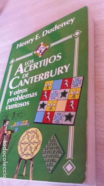 Libros de segunda mano de Ciencias: Los acertijos de Canterbury y otros problemas curiosos. Henry E. Dudeney - Foto 2 - 194734102