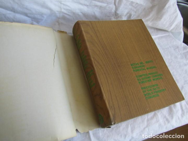 Libros de segunda mano: Sexto congreso Forestal mundial Tomo 1 1966, Español, francés e inglés - Foto 7 - 194876661