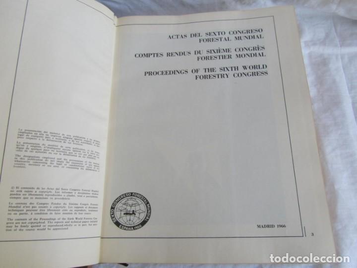 Libros de segunda mano: Sexto congreso Forestal mundial Tomo 1 1966, Español, francés e inglés - Foto 9 - 194876661