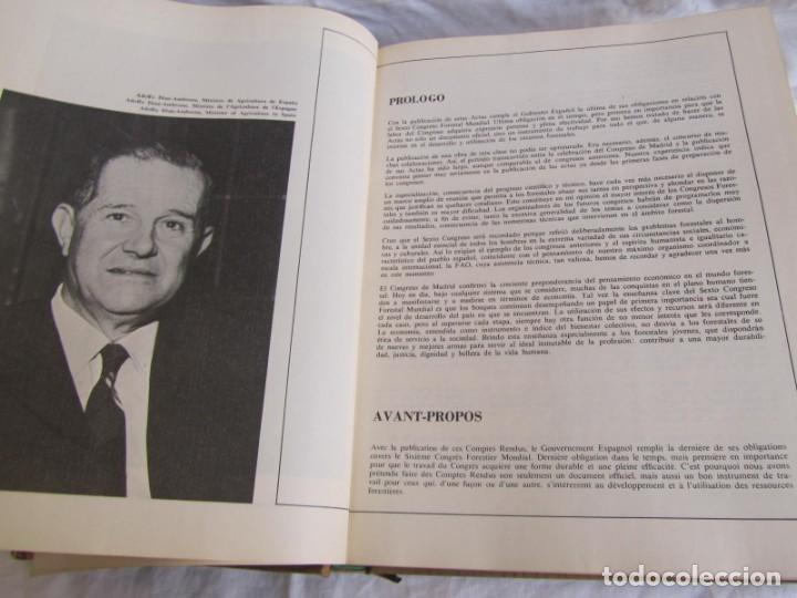 Libros de segunda mano: Sexto congreso Forestal mundial Tomo 1 1966, Español, francés e inglés - Foto 12 - 194876661