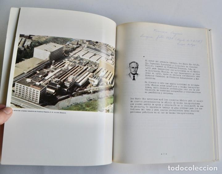 Libros de segunda mano de Ciencias: Mario Nin Sitja. Bases para el Cálculo de Bandas Transportadoras. Firestone Hispania, Basauri, 1987 - Foto 3 - 194880847