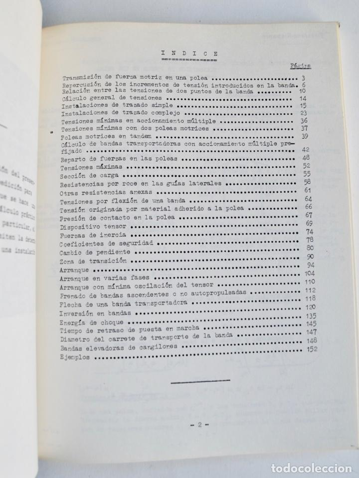 Libros de segunda mano de Ciencias: Mario Nin Sitja. Bases para el Cálculo de Bandas Transportadoras. Firestone Hispania, Basauri, 1987 - Foto 5 - 194880847