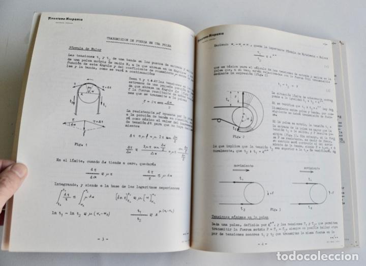 Libros de segunda mano de Ciencias: Mario Nin Sitja. Bases para el Cálculo de Bandas Transportadoras. Firestone Hispania, Basauri, 1987 - Foto 6 - 194880847