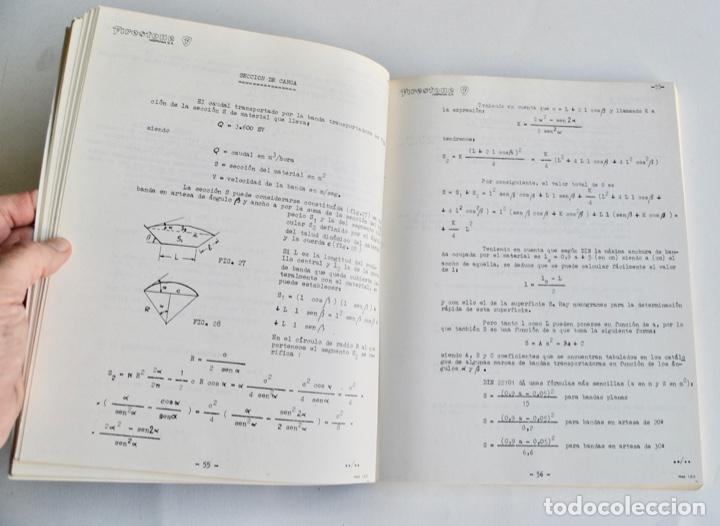 Libros de segunda mano de Ciencias: Mario Nin Sitja. Bases para el Cálculo de Bandas Transportadoras. Firestone Hispania, Basauri, 1987 - Foto 7 - 194880847