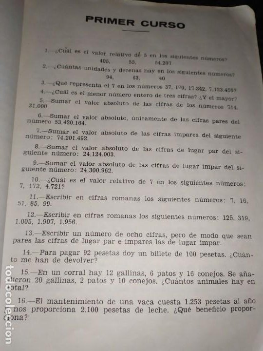 Libros de segunda mano de Ciencias: ÚNICO? 2000 PROBLEMAS DE MATEMÁTICAS BACHILLER ELEMENTAL CURSOS I II III RICARDO GARCÍA ROCA - Foto 14 - 194905936
