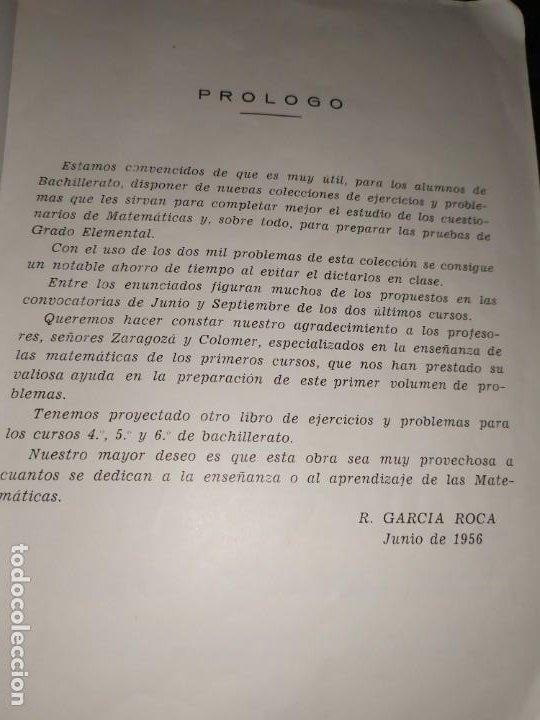 Libros de segunda mano de Ciencias: ÚNICO? 2000 PROBLEMAS DE MATEMÁTICAS BACHILLER ELEMENTAL CURSOS I II III RICARDO GARCÍA ROCA - Foto 15 - 194905936