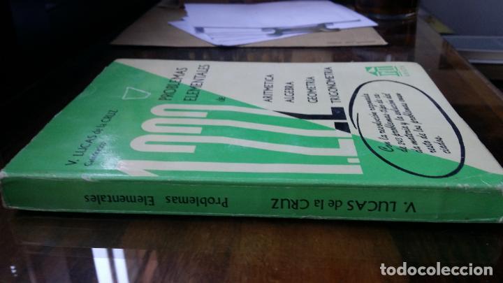 Libros de segunda mano de Ciencias: 1222 problemas elementales de Aritmetica Algebra Geometria y Trigonometria V. Lucas de la Cruz Anaya - Foto 2 - 194959470
