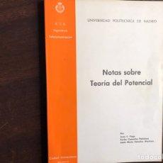 Libros de segunda mano de Ciencias: NOTAS SOBRE TEORÍA DEL POTENCIAL. JUAN E. PAGE. Lote 194980285