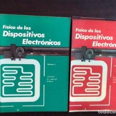 Libros de segunda mano de Ciencias: FÍSICA DE LOS DISPOSITIVOS ELECTRÓNICOS. VOLUMEN 1 Y 2. . M. RUIZ. G.L. ARAUJO. Lote 194980433