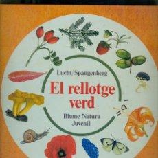 Libros de segunda mano: NUMULITE L1238 EL RELLORGE VERD BLAUME NATURA JUVENIL LUCHT / SPANGENBERG. Lote 195020422