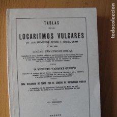 Libros de segunda mano de Ciencias: TABLAS DE LOS LOGARITMOS VULGARES.- EDIT. HERNANDO. 1974. Lote 195160655