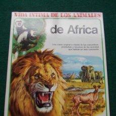 Libros de segunda mano: VVIDA INTIMA DE LOS ANIMALES DE AFRICA AURIGA CIENCIA. Lote 195172501