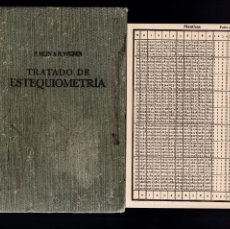 Libros de segunda mano de Ciencias: TRATADO DE ESTEQUIOMETRÍA - P.NYLÉN & N.WIGREN - EDICIONES ARS 1943 / 1ª EDICION. Lote 195218042