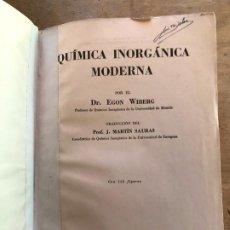 Libros de segunda mano de Ciencias: QUÍMICA INÓRGANICA MODERNA. EGON WIBERG.. Lote 195267337