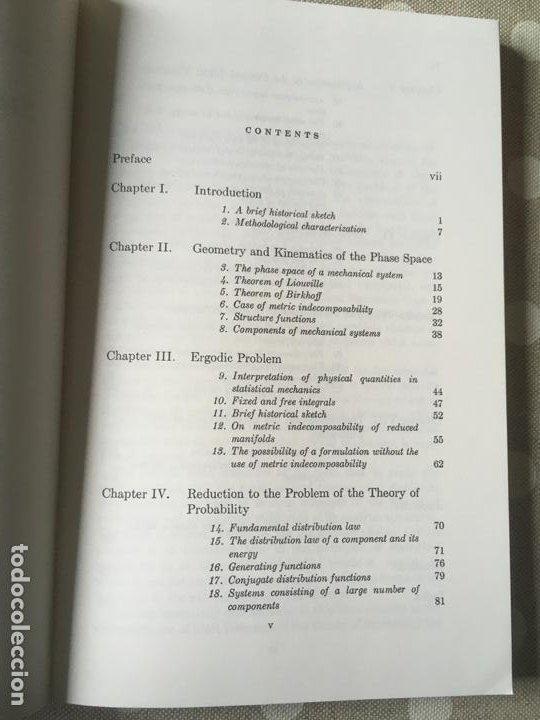 Libros de segunda mano de Ciencias: Mathematical Foundations of Statistical Mechanics (Dover Books on Mathematics) de A.Y. Khinchin - Foto 3 - 195273411