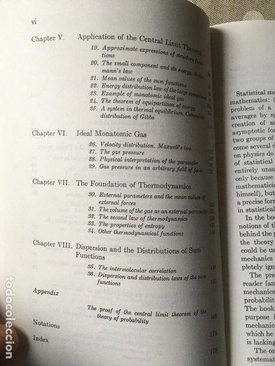 Libros de segunda mano de Ciencias: Mathematical Foundations of Statistical Mechanics (Dover Books on Mathematics) de A.Y. Khinchin - Foto 4 - 195273411