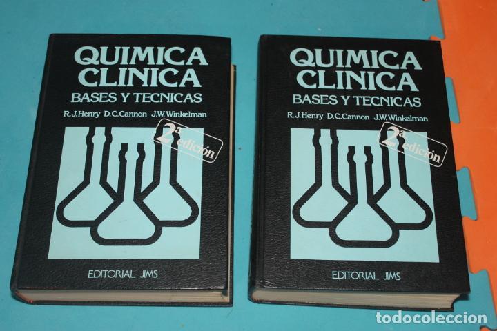 QUIMICA CLINICA, BASES Y TECNICAS, TOMOS I Y II, EDITORIAL JIMS 1980 (Libros de Segunda Mano - Ciencias, Manuales y Oficios - Física, Química y Matemáticas)