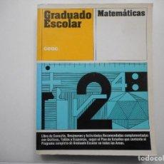 Libros de segunda mano de Ciencias: JUAN JOSÉ RIVERA GÓMEZ MATEMÁTICAS. GRADUADO ESCOLAR Y98968T. Lote 195364918