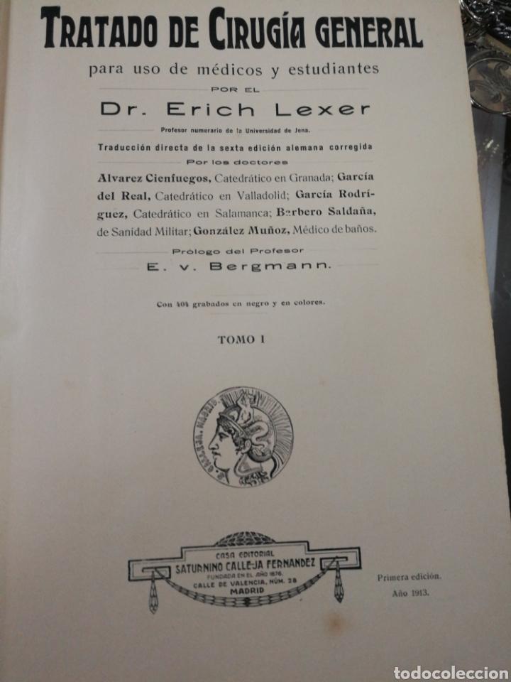 BIBLIOTECA DE CIENCIAS MÉDICAS. CIRUGÍA GENERAL. 1913 (Libros de Segunda Mano - Ciencias, Manuales y Oficios - Física, Química y Matemáticas)