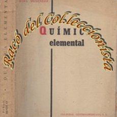 Libros de segunda mano de Ciencias: QUIMICA ELEMENTAL, HERMINIA PIÑON Y ROSA MENENDEZ, CULTURAL CENTROAMERICANA, 1962. Lote 195387470