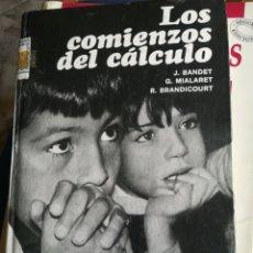 Libros de segunda mano de Ciencias: LOS COMIENZOS DEL CÁLCULO J. BANDET G MIALARET Y R BRANDI COURT TAPA DURA. Lote 195396472