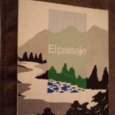 Libros de segunda mano: EL PAISAJE. Mª DEL MILAGRO ESCRIBANO. MOPU, 1987.. Lote 195420773
