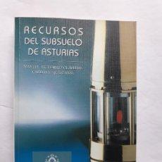 Libros de segunda mano: RECURSOS DEL SUBSUELO DE ASTURIAS, MANUEL GUTIERREZ CLAVEROL, CARLOS LUQUE CABAL, UNIVERSIDAD OVIEDO. Lote 195427161