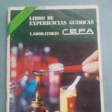 Libros de segunda mano de Ciencias: LIBRO DE EXPERIENCIAS QUIMICAS LABORATORIO QUIMICEFA. Lote 195480985